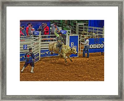 Shooting For 8 Seconds Framed Print by Mountain Dreams