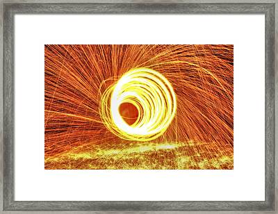Shooting Sparks Framed Print by Dan Sproul