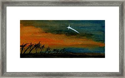 Shooting Star Framed Print by R Kyllo