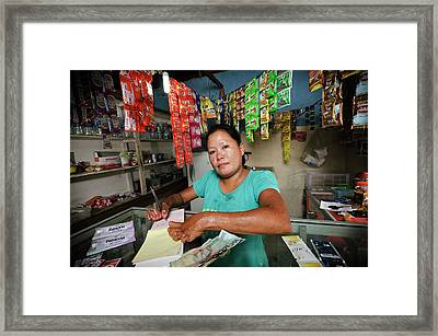 Shopkeeper With Leprosy Framed Print by Matthew Oldfield