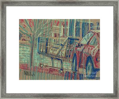 Shopping Cart Framed Print featuring the painting Shopping Cart by Donald Maier