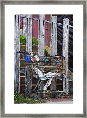 Shopping Cart Framed Print featuring the photograph Shopping Cart by Peter Tellone