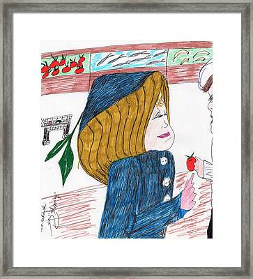Shopping Framed Print by Elinor Rakowski
