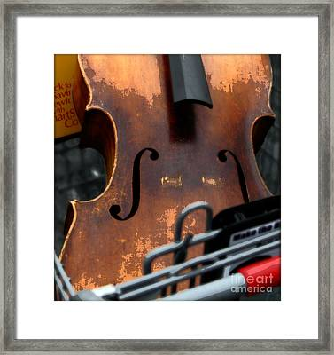 Shopping Cart Framed Print featuring the photograph Shopping For Sound by Steven  Digman