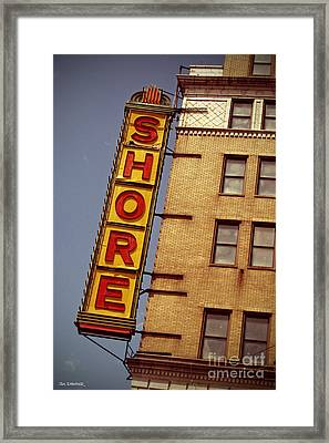Shore Building Sign - Coney Island Framed Print by Jim Zahniser