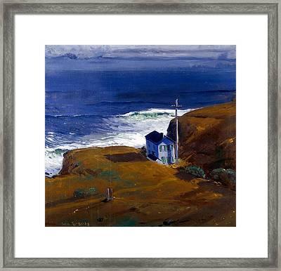 Shore House Framed Print by Celestial Images