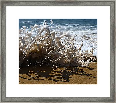 Shorebreak - The Wedge Framed Print by Joe Schofield