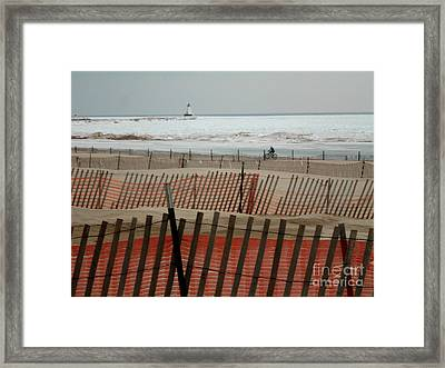 Shoreline Cycles Framed Print by Erica  Darknell