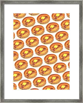 Short Stack Pattern Framed Print by Kelly Gilleran