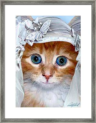 Shotgun Bride  Cats In Hats Framed Print by Michele  Avanti