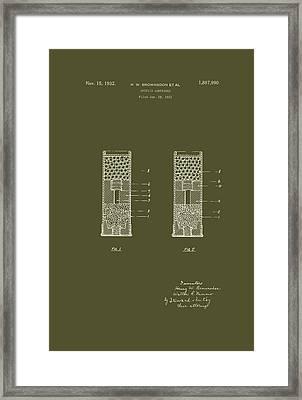 Shotgun Cartridge Patent Framed Print by Mountain Dreams