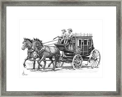 Cowboy Pencil Drawings Framed Print featuring the drawing Shotgun by Murphy Elliott