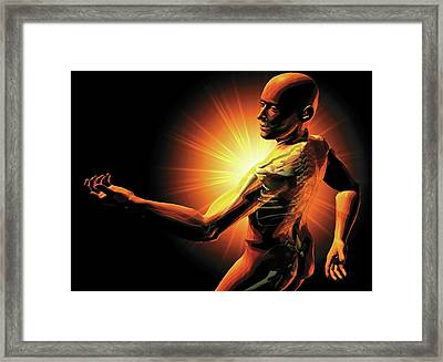 Shoulder Pain Framed Print by Harvinder Singh