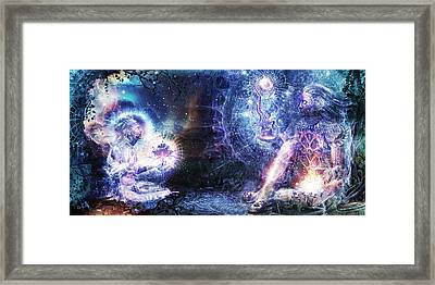 Shoulders And Giants Framed Print by Cameron Gray