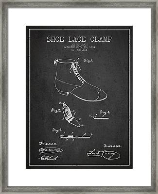 Show Lace Clamp Patent From 1894 - Dark Framed Print by Aged Pixel