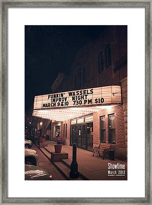 Showtime Framed Print by Jeff Bell