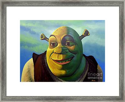 Shrek Framed Print by Paul Meijering