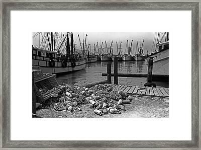 Shrimp Boats In Key West Framed Print by Thomas D McManus