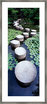 Shrine Garden, Kyoto, Japan Framed Print by Panoramic Images