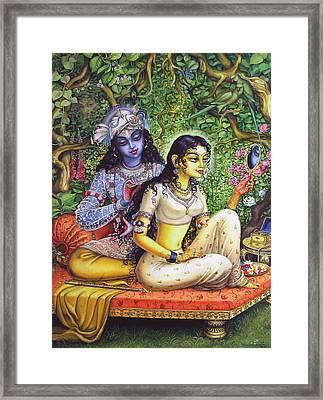 Shringar Lila Framed Print by Vrindavan Das