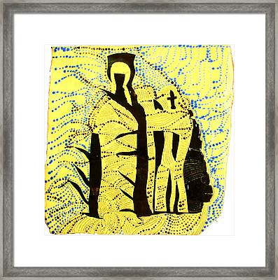 Shroud Of Jesus Framed Print by Gloria Ssali