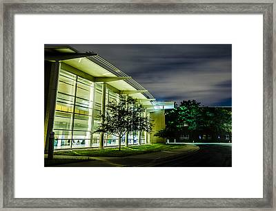 Shs Lower Cafeteria At Night Framed Print by Alan Marlowe