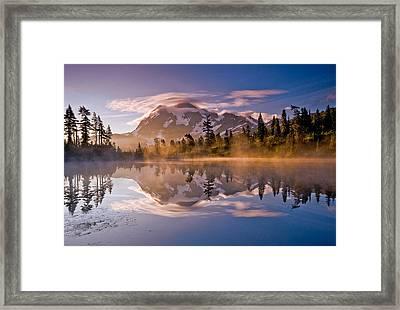 Shuksan Sunrise Framed Print by Darren  White