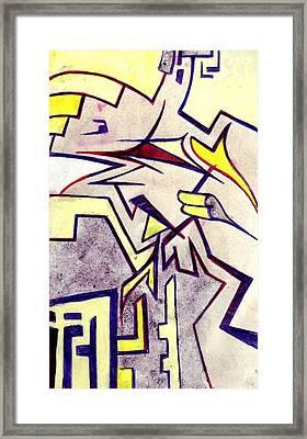 Shuteye In Yellow Framed Print by Seb Mcnulty
