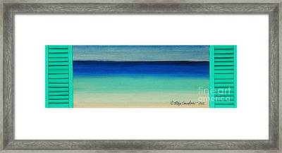 Shutter Me Sea Framed Print by Robyn Saunders