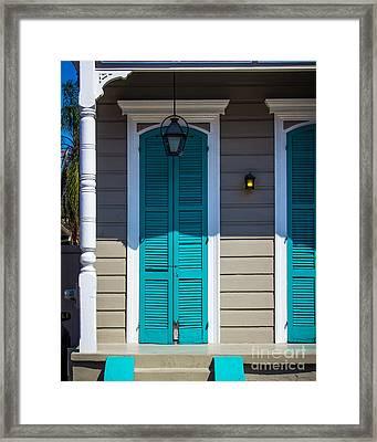 Shuttered Door Framed Print by Perry Webster