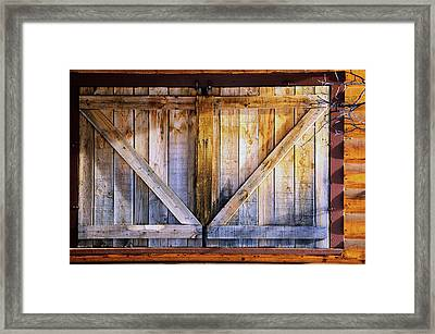 Shuttered Framed Print by The Forests Edge Photography - Diane Sandoval