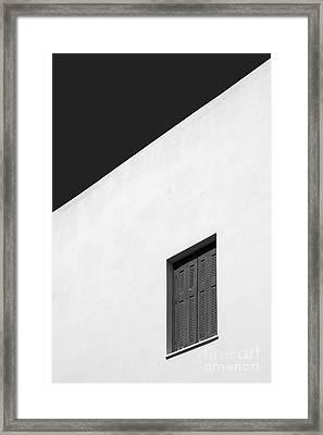 Shuttered Window Framed Print by Rod McLean