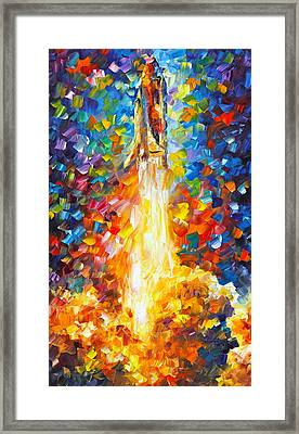 Shuttle Discovery  Framed Print by Leonid Afremov