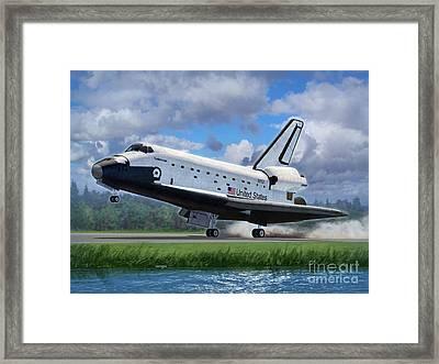 Shuttle Endeavour Touchdown Framed Print by Stu Shepherd