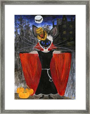 Siamese Queen Of Transylvania Framed Print by Jamie Frier