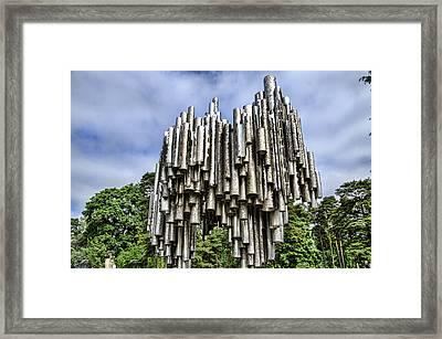 Sibelius Pipe Monument - Helsinki Finland Framed Print by Jon Berghoff