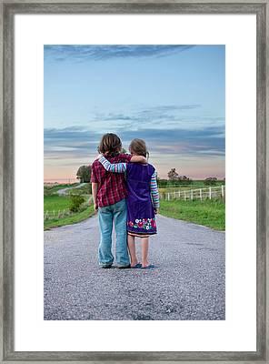 Siblings Framed Print by Indigo Schneider