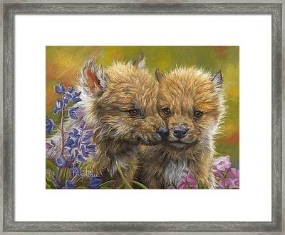 Siblings Framed Print by Lucie Bilodeau