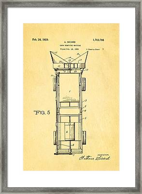 Sicard Snow Plow Patent Art 2 1929 Framed Print by Ian Monk