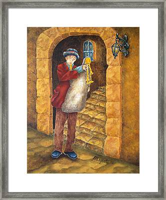 Sicilian Ciaramella Framed Print by Pamela Allegretto