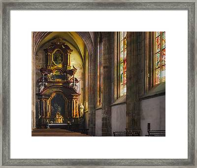 Side Chapel Of St Barbara Framed Print by Joan Carroll