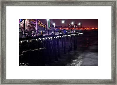 Side Of The Pier - Santa Monica Framed Print by Gandz Photography