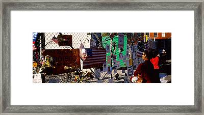 Side Profile Of A Woman Standing Framed Print by Panoramic Images