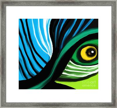 Side View Framed Print by Hilda Lechuga