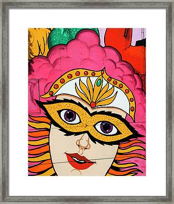 Carnival Mask Palm Springs Framed Print by William Dey
