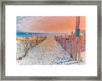 Sideside Heights Sunset Framed Print by Gary Keesler