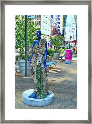 Sidewalk Catwalk 16 Framed Print by Allen Beatty