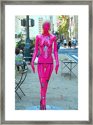 Sidewalk Catwalk 17 Framed Print by Allen Beatty