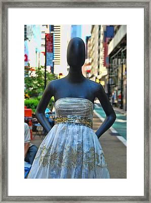 Sidewalk Catwalk 18 Framed Print by Allen Beatty