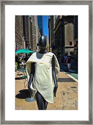Sidewalk Catwalk 3 A Framed Print by Allen Beatty